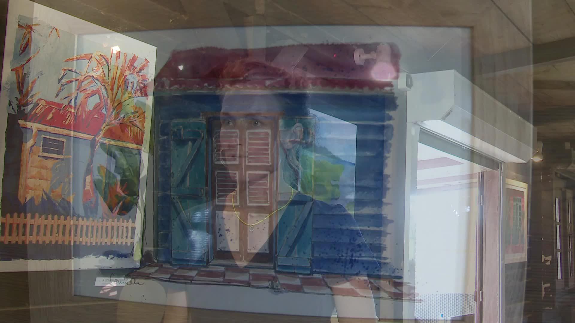 La case créole vue par Camille CAUDRELIER, artiste peintre