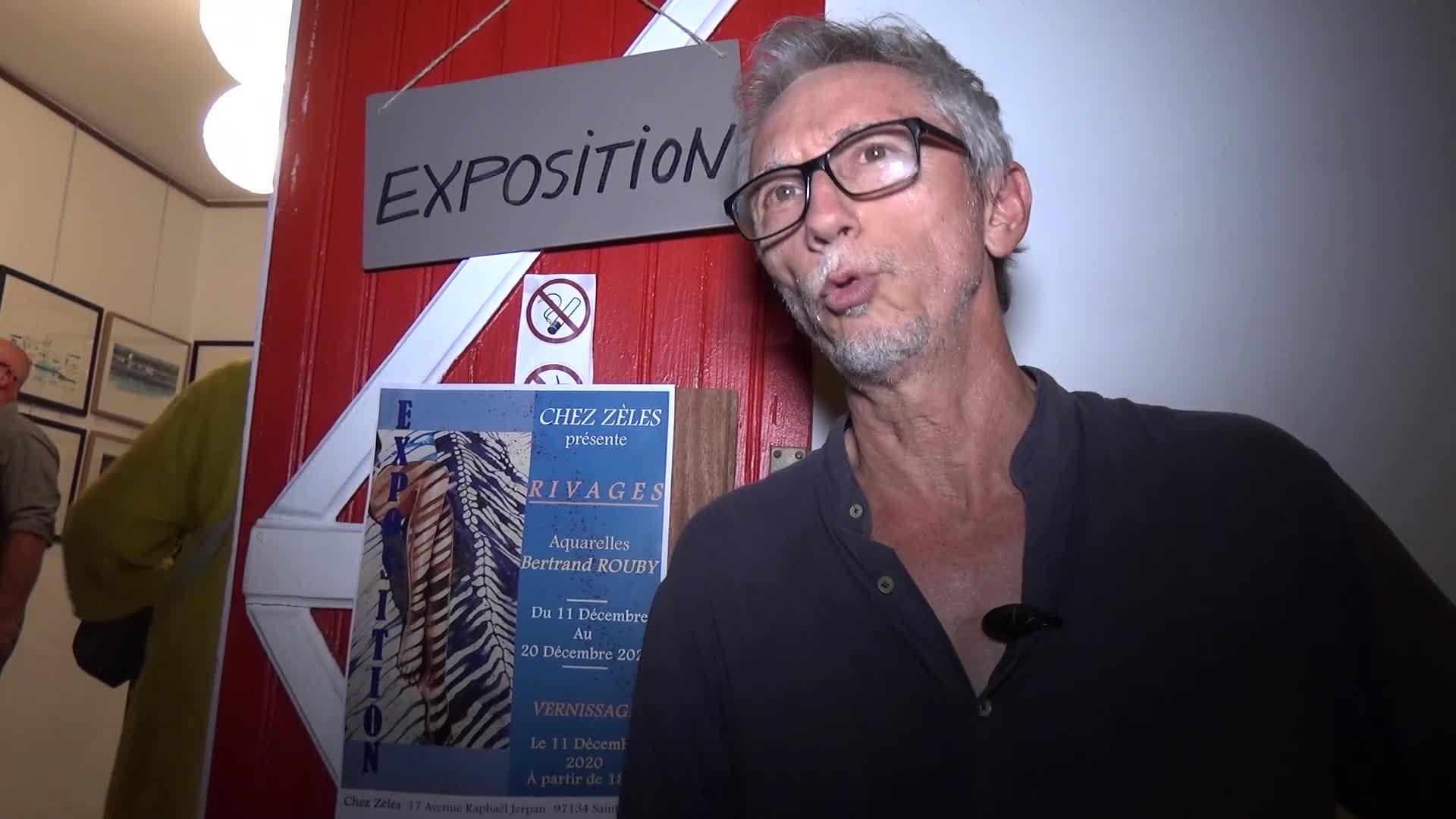 Bertrand ROUBY artiste peintre s'expose à St Louis en Décembre 2020